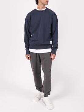Garment dyed sweatpants, grey