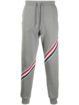 Classic Tri-color stripe sweatpants, medium grey