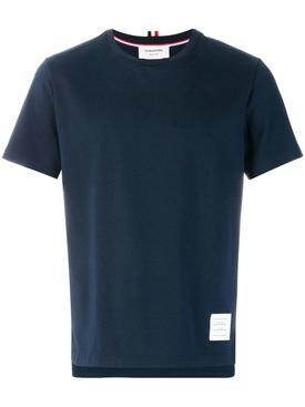 side slit relaxed t-shirt NAVY