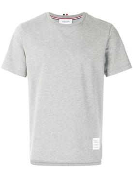 side slit relaxed t-shirt LIGHT GREY