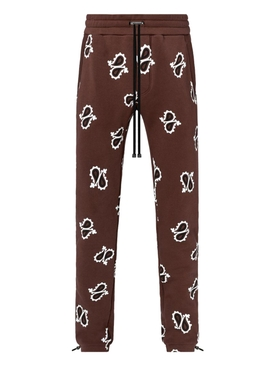 Brown Paisley Sweatpants