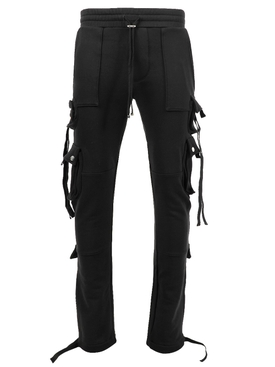 TACTICAL CARGO SWEATPANT, BLACK
