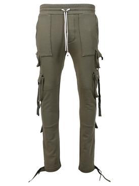 Tactical cargo sweatpants, military green