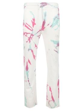 Core Tie Dye Sweatpants White and Multicolor