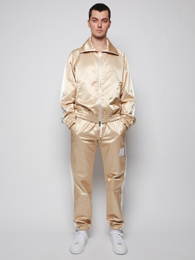 Sateen Track Jacket CHAMPAGNE AND WHITE