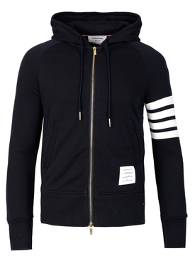 CLASSIC 4-BAR FULL ZIP HOODIE NAVY BLUE