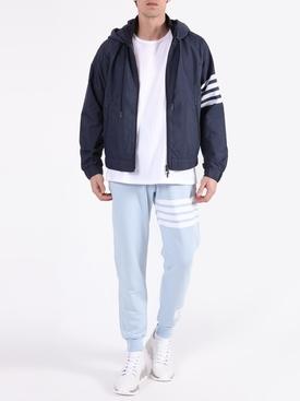 Striped Windbreaker Jacket NAVY