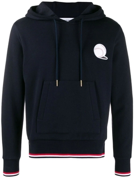 Thom Browne - Basketball Icon Hoodie Navy - Men