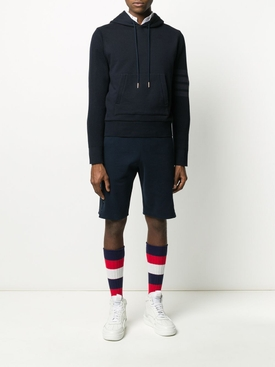 4-BAR SLEEVE HOODED SWEATSHIRT NAVY