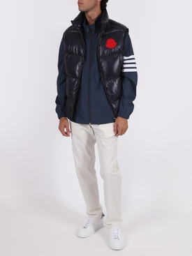 4-bar zip-up tech jacket NAVY
