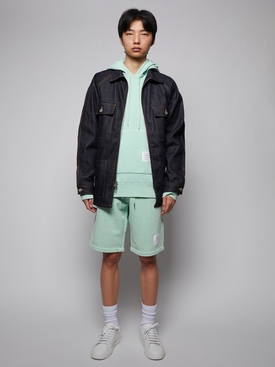 GARMENT DYED HOODIE PULLOVER GREEN