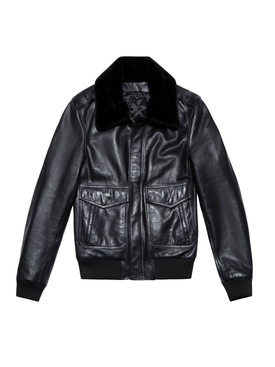 LEATHER JACKET 90, Black