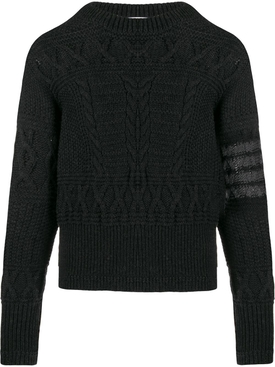 Merino Wool Aran Jumper DARK GREY