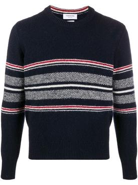 Birdseye knit jumper NAVY