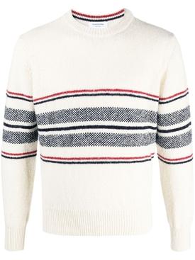 Birdseye knit jumper WHITE