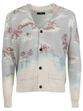 Bleached Printed Aloha cardigan