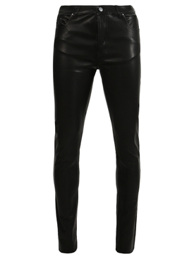 Five pocket leather pants
