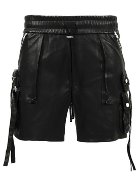 TACTICAL LEATHER SHORT, BLACK