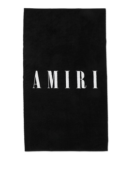 SMALL LOGO TOWEL Black and White