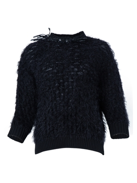 Simone Rocha - Frayed Crystal Embellished Knit Top - Women