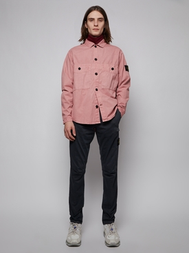 BUTTON DOWN OVERSHIRT RED ONION PURPLE