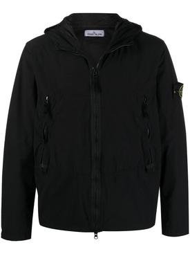 Zipped hooded jacket BLACK