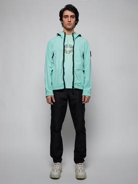 Zipped hooded jacket AQUA