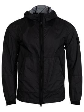 Hooded Zipped Jacket BLACK