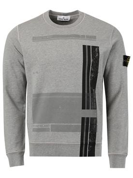 Fitted Graphic Sweatshirt MELANGE GREY