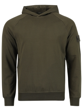Classic fit hoodie MILITARY GREEN