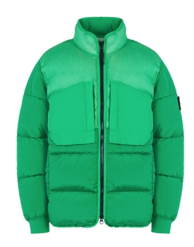 REAL DOWN PADDED COAT Green