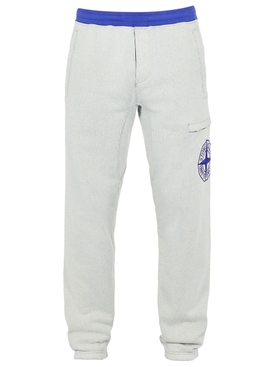 Contrast Trim Fleece Pants PERIWINKLE