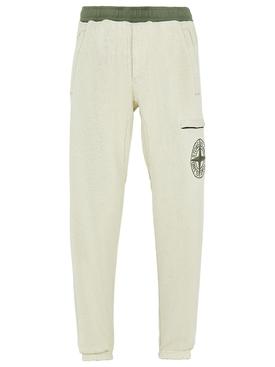 Contrast Trim Fleece Pants SAGE