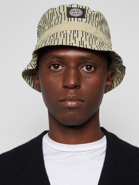 Camouflage Print Packable Bucket Hat Natural Beige