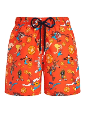 X Space Jam Ready 2 Jam Looney Tunes Swim Trunks Orange