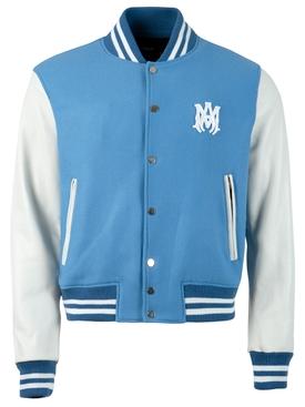 Classic Letterman Jacket, Carolina Blue
