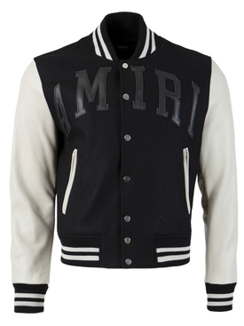 LETTERMAN JACKET, Black