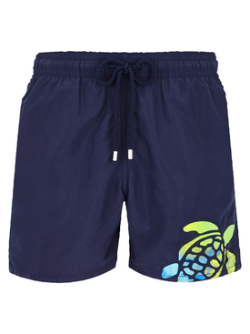 Navy motu swim shorts