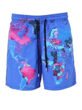 GLOBAL MAP SONAR  SWIM SHORTS