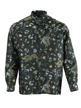 Martine Rose - Embroidered Print Button-down Shirt Black Bird - Men
