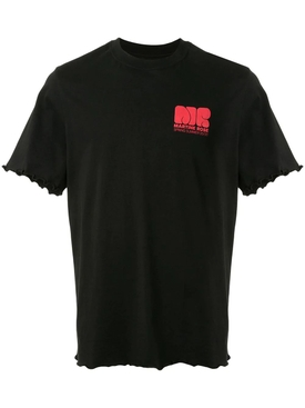 Martine Rose - Lettuce Hem Logo T-shirt Black - Men