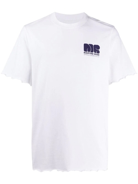 Martine Rose - Lettuce Hem Logo T-shirt White - Men