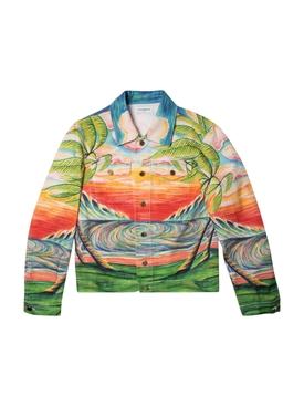 Printed Denim Jacket Haukai