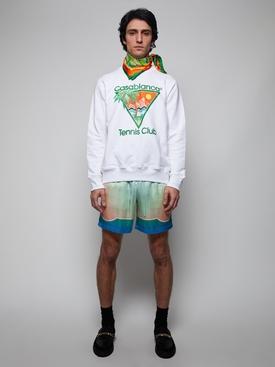 Tennis Club Icon Screen Printed Sweatshirt WHITE