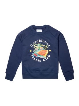 Casa Club Printed Sweatshirt BLUE