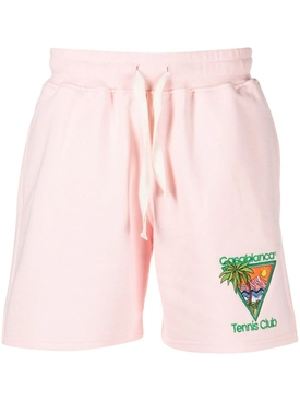 TENNIS CLUB ICON EMBROIDERED JERSEY SHORTS pink