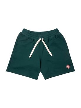 Logo Patch Jersey Shorts DARK GREEN LOGO