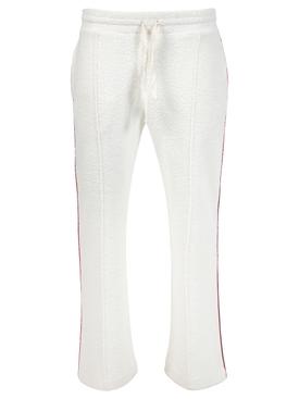 Piped Terry Trouser, ecru white