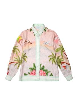Long Sleeve Surf Club Silk Shirt Casablanca Surf Club