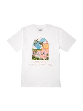 Casa Graphic Printed T-Shirt WHITE SCHOOL OF BEAUTIFUL